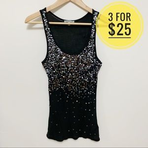 3/$25 Charlotte Russe Blue Sequin Tank Top